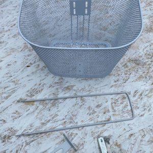 Predný košík na tříkolku bílý