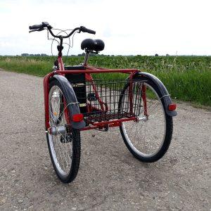 elektrický třikolový kolo s nízkym rámem